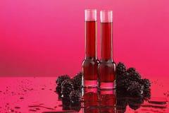 Blackberry or raspberry liquor/wine Royalty Free Stock Image
