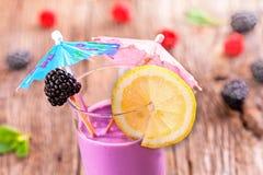 Blackberry and raspberry smoothie Stock Image