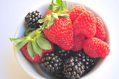 Blackberry, Raspberry and Strawberries Royalty Free Stock Image