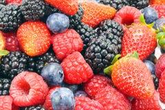 Blackberry Raspberry  Strawberry Blueberry Fruit Mix. On white background Royalty Free Stock Photo