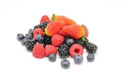 Blackberry Raspberry  Strawberry Blueberry Fruit Mix. On white background Royalty Free Stock Image