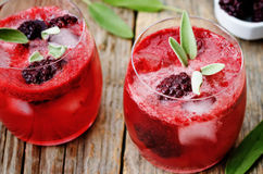 Blackberry sage cooler. On a dark wood background. the toning. selective focus Royalty Free Stock Image