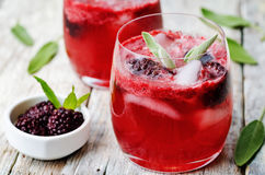 Blackberry sage cooler. On a white wood background. the toning. selective focus Royalty Free Stock Images