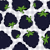 Blackberry Seamless Pattern on Tablecloth Royalty Free Stock Images