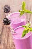 Blackberry smoothie Fotografering för Bildbyråer