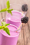 Blackberry smoothie Arkivbilder