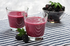 Blackberry smoothie Royalty Free Stock Image