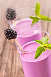 Blackberry smoothie Stock Image