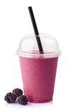 Blackberry smoothie Stock Photos