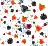 Blackberry and strawberry. Stock Photography