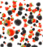 Blackberry and strawberry Royalty Free Stock Images
