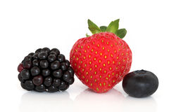 Blackberry, Strawberry and Blueberry Fruit Royalty Free Stock Images