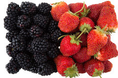 Blackberry and strawberry Stock Images