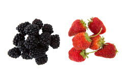 Blackberry and strawberry Royalty Free Stock Photos