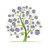 Blackberry tree for your design Royalty Free Stock Photo