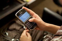 Blackberry User Stock Photos