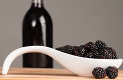 Blackberry wine Royalty Free Stock Image