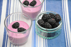 Blackberry Yoghurt Royalty Free Stock Photo