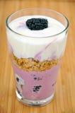 Blackberry Yoghurt Royalty Free Stock Photos