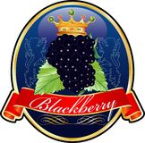 Blackberrylabel Stockfoto