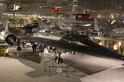 Blackbird US fighter in Museum of Flight Seattle Royalty Free Stock Photography
