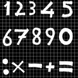 Blackboard 1. Blackboard with numbers and operation symbols Stock Images