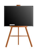 Blackboard. With easel over white background. school illustration Royalty Free Stock Image