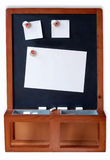Blackboard. With empty Notes on white Background Stock Photo