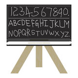 Blackboard 123 abc. 123 and abc written a blackboard Royalty Free Stock Photo