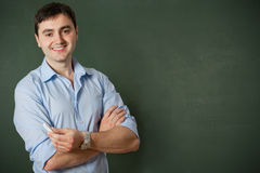 At the blackboard Royalty Free Stock Image