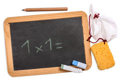 Blackboard with 1x1 Royalty Free Stock Photography
