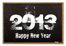 Blackboard 2013. Old fashioned blackboard or notice board with happy new year 2013 vector illustration