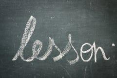 Blackboard. Word Lesson written on the blackboard Royalty Free Stock Images