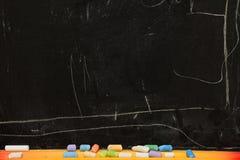 Blackboard. Chalk drawings on the blackboard Stock Photos
