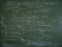 Blackboard. With formulas and illustration Royalty Free Stock Photos