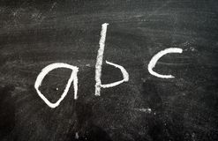 Blackboard - ABC royalty free stock image