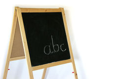 Blackboard ABC. Blackboard with letters ABC, isolated Stock Photography