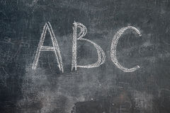 Blackboard with ABC Royalty Free Stock Photos