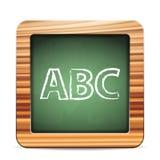 Blackboard ABC. On a white background Stock Photo