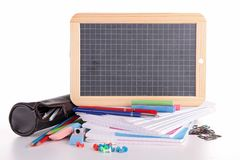 Blackboard and accessory Stock Image