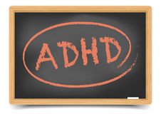 Blackboard ADHD Royalty Free Stock Photo