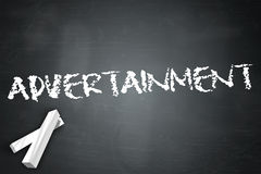 Blackboard Advertainment. Blackboard with Advertainment related wording Royalty Free Stock Images