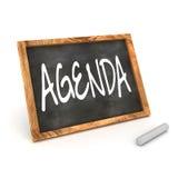 Blackboard Agenda Stock Images