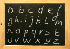 Blackboard alphabet Royalty Free Stock Images