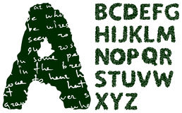 Blackboard alphabet Stock Photography