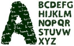 Blackboard alphabet. Vector blackboard alphabet on a white background vector illustration