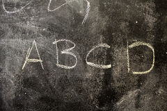Blackboard with alphabet. In school for children, education and school royalty free stock photo