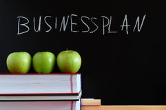 Blackboard and apples Royalty Free Stock Photography