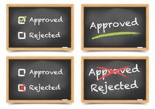 Blackboard Approved Rejected Royalty Free Stock Photo