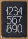 blackboard arabscy liczebniki Obraz Royalty Free